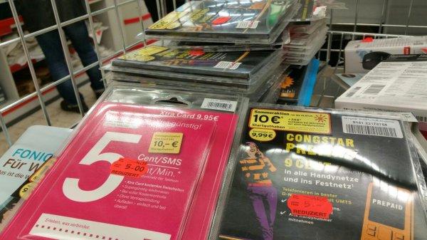 [Kaufland Köln Merheim] Prepaid Handykarten für 5€ mit ca. 10€ Guthaben