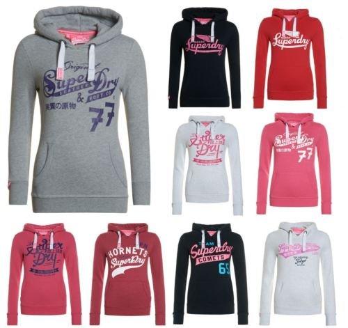 Superdry Damen Hoodies / Kaputzenpullover 9 Farben / Modelle im ebay Shop 34.95