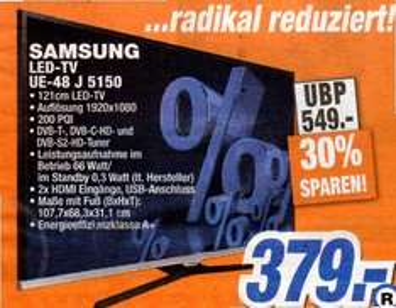 [Expert Flensbug] Samsung UE48J5150 für 379€