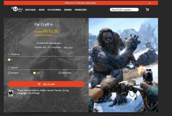 Far Cry 4 Gold im Brazil Uplay Store (VPN benötigt)