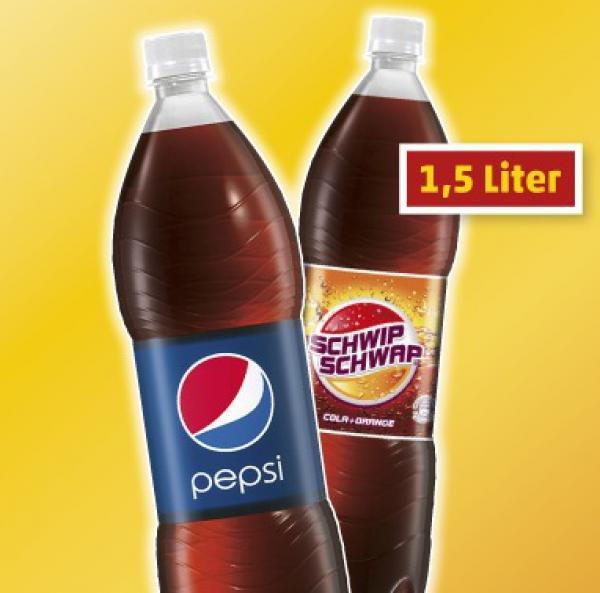 [TEGUT] Pepsi / Schwip Schwap verschiedene Sorten 1,5l für 0,49€ (26.+27.02.)