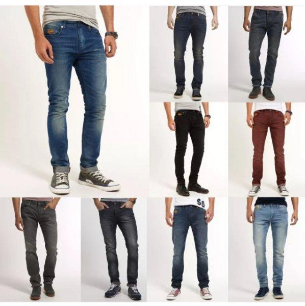 Supedry Herren Jeans 34,95