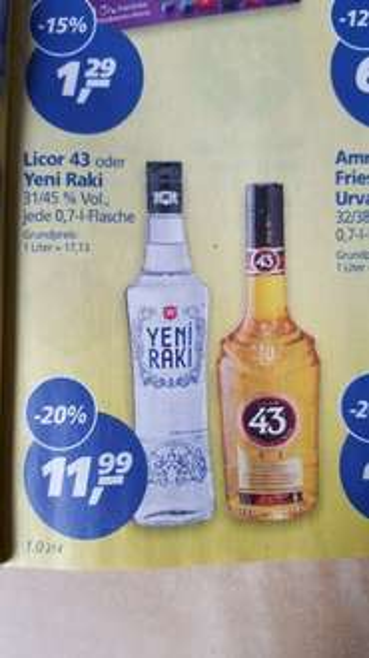 real,- ab 22.02.: Licor 43 für 11,99 Euro.
