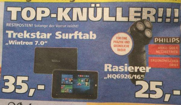 [Lokal Edeka Patzer Lünen] Akku-Rasierer Philips HQ6926/16 für 25€ und Trekstar Surftab Wintron 7.0 für 35€