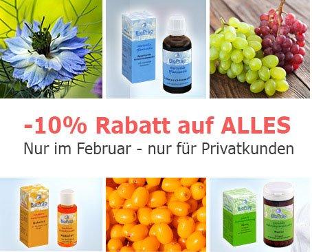 -10% Rabatt auf Vitamine und Nahrungserhänung