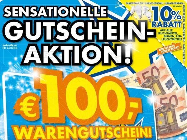 [lokal Euronics Ratingen] 100€ Warengutschein für alle Produkte ab 500€