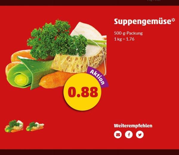 Suppengemüse ab Montag zu 0,88€ für 500g @Penny
