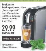 [Lokal Marktkauf Münster] Angebot vom 25.02-27.02/ Teekanne TEALOUNGE SYSTEM Brilliant Silver Teekapselmaschine (1.45 kW, 1 Liter) für 29,99€