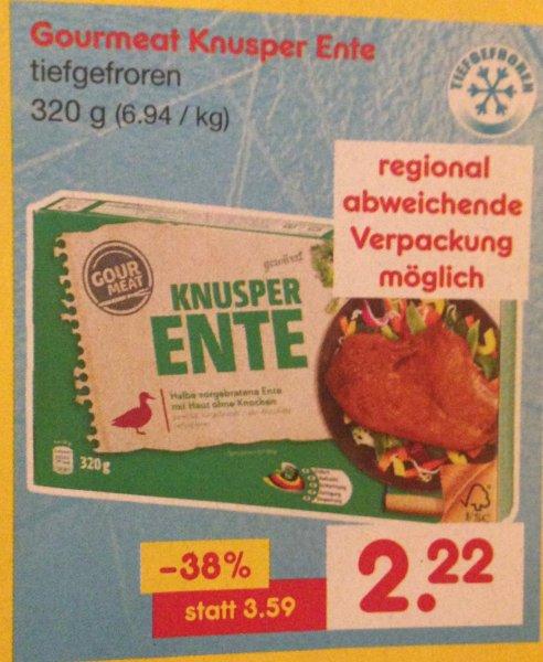 Netto (MD) Gourmet knusper Ente 2,22€ statt 3,59€