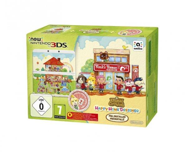 ABGELAUFEN Nintendo New 3DS + Animal Crossing Happy Home Designer für 139€ – Handheld-Konsole mit Spiel und Zierblende