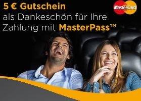 Cineplex Kinoticket kaufen und 5 € Gutschein für den nächsten Film bekommen durch Bezahlung mit Masterpass