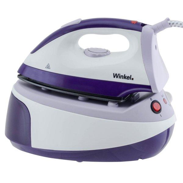(WHD & Prime) Winkel VS2 Dampfbügelstation mit abnehmbarem Wassertank, 2200 W, weiß / lila