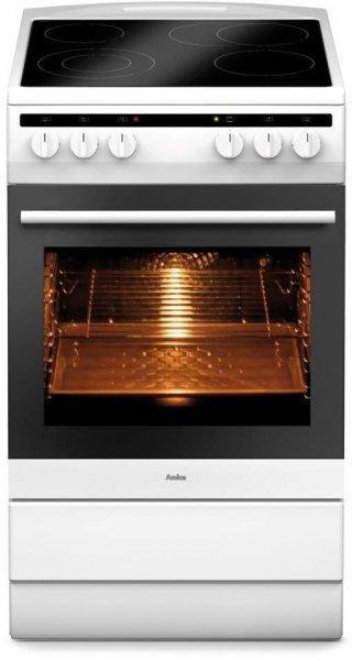 [ZackZack] Amica SHC 11553 W Elektro-Standherd, Glaskeramik-Kochfeld, 50cm breit (RapidWarmUp, Ober-/Unterhitze, Umluft, Intensivgrill, Infrarotgrill, Auftaufunktion)  für 299,00 € inkl. Versand