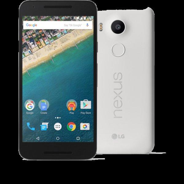 Nexus 5x 32GB in Weiß [Online bei Dastro.de]