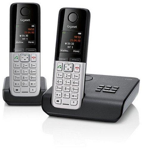 eBay WoW: Gigaset C300A Duo Schnurlos Festnetz Telefon mit Anrufbeantworter Schwarz @59,90 Euro inkl. Versand
