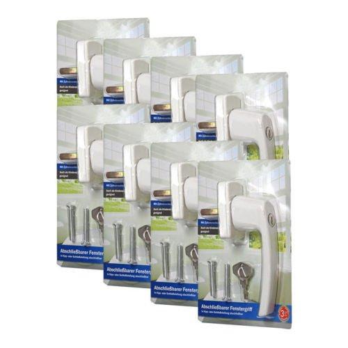 (ebay.de) 8 abschließbare Fenstergriffe weiß / silberfarben für 19,99 Euro inkl. Versand (ERSPARNIS mind. 50%)