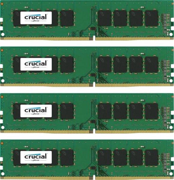 [Amazon] 16GB Crucial RAM Quad-Kit  (DDR4-2133, CL15) für 55,70€