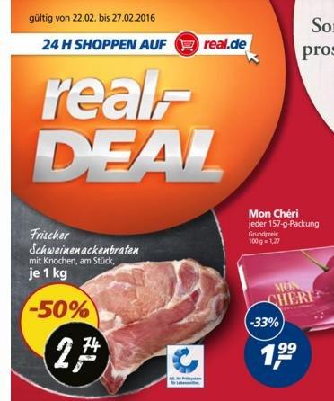 sehr gutes real Angebot lokal ol schweinenacken 50 %