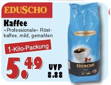 [JAWOLL] Eduscho Professional Harmonisch Mild gemahlen (1Kg) 5,49€