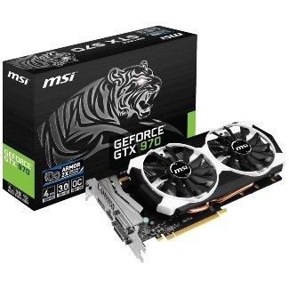 [Atelco] MSI GTX 970 4GD5T OC, GeForce GTX 970, 4GB GDDR5, 2x DVI, HDMI, DisplayPort für 273,98€/278,98€
