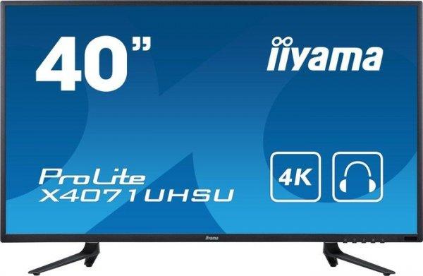 """iiyama Prolite X4071UHSU-B1 Monitor (39.5"""", 3840x2160, 16:9, MVA) für 499,00 Euro (ggf. +20,99 Euro Versand)"""