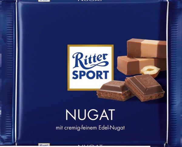 [ROSSMANN evtl. bundesweit] Green Label: Abverkauf Ritter Sport Schokolade (Nugat, Alpenmilch, Nuss-Splitter, je 250 g) für 1,10 € bzw. 0,99 € (Green Label + 10% Rossmann Coupon)