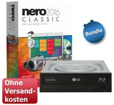 "Nero 2016 Classic + LG Blu-Ray Brenner ""BH16NS55"" für 89,90€ @ ZackZack"
