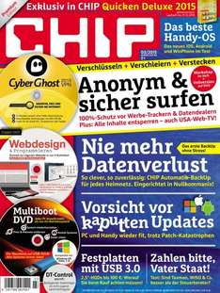"""12 Ausgaben """"CHIP Premium"""" inkl. 3 DVDs für effektiv 12.68€ durch 70€ Amazongutschein"""