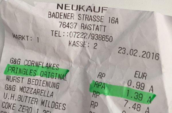 [LOKAL Edeka Neukauf] Pringles für 1,39 EUR evt. in allen