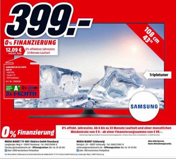 Samsung UE43J5670 109 cm (43 Zoll) MediaMarkt Flensburg und Schleswig