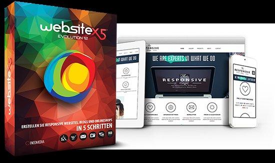 WebSite X5 Evolution 12 + Paragon Hard Disk Manager 15 Suite