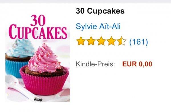 2x gratis (Amazon Kindle) 30 cupcakes Rezeptbuch +  30 himmlische Desserts gratis Download