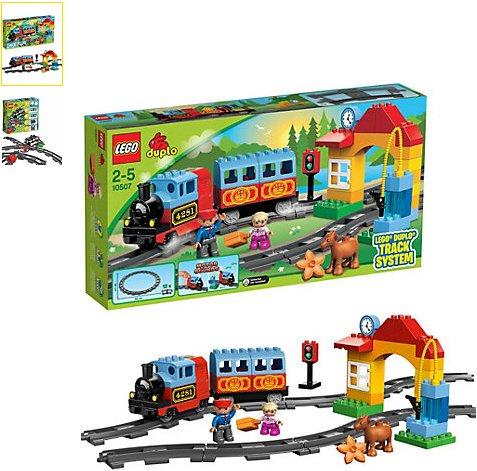 [MYTOYS] Lego 10507 Duplo Eisenbahn Starter Set & 10506 Eisenbahn Zubehör Set