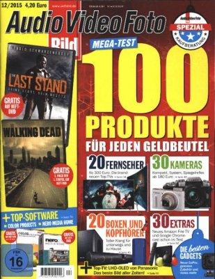 Jahresabo 13 Ausgaben Audio Video Foto Bild + DVD mit 50 € Verrechnungsscheck für 54€ effektiv 4€ / 0,30 cent pro Ausgabe