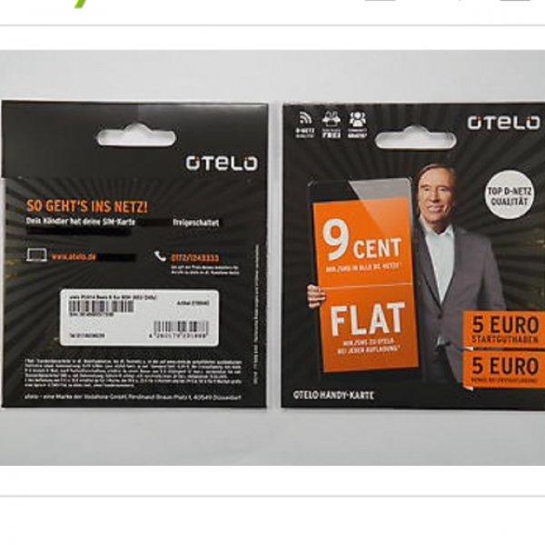 [Ebay]Otelo prepaid 9 Cent Minute/SMS mit 5€ Guthaben