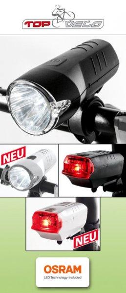 [NORMA] Top Velo - LED-Fahrradleuchten-Set - für 7,99 € ab 29.02.