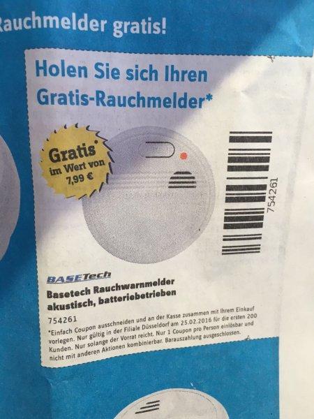 Conrad Düsseldorf: Rauchmelder gratis mit Coupon aus der heutigen Bild Zeitung (0,80€) statt 7,99€