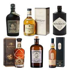 "Delinero.de :Jeweils eine Flasche Lagavulin 16, Dalwhinnie 15, Botucal 12 Years, Plantation Barbados XO 20th, Monkey 47 und Hendrick's Gin mit Gutschein ""Super50"" für insgesamt 159,99 Euro – also pro Flasche 26,665 €"