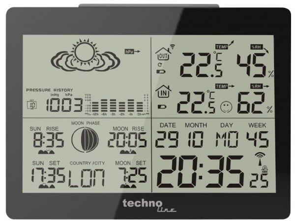 [ABGELAUFEN] Amazon.de Technoline WS 6760 Wetterstation inklusive Außensender, schwarz