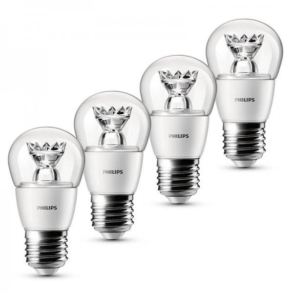 4x Philips LED Tropfenform 3 W (25 W) E27 für 12,95€ bei eBay