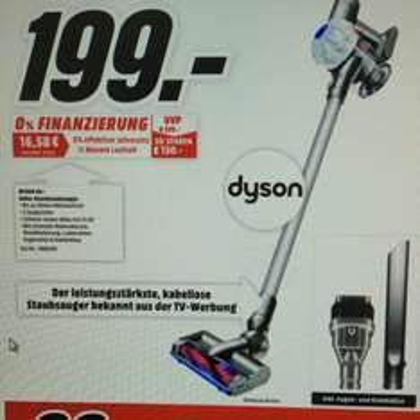 [Lokal Media Markt Schweinfurt] Dyson V6+ Akku-Handstaubsauger