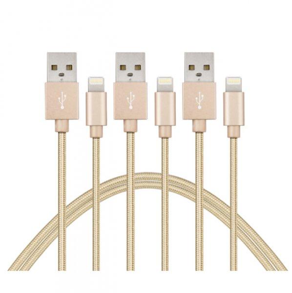 3x 2m Lightening Kabel für Apple Geräte