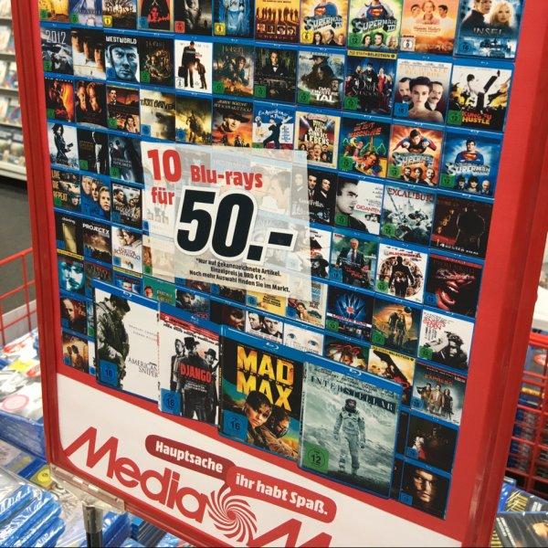 [Lokal in Berlin] 10 Blu-Rays für 50€ bei Media Markt