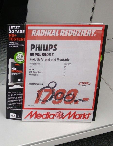 Lokal Media Markt Schwäbisch Gmünd Philips PDL 8908 S 55 Zoll