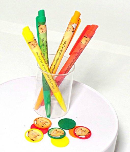Kostenloser Werbeartikel(z.B. Feuerzeug, Kugelschreiber, Einkaufschip)