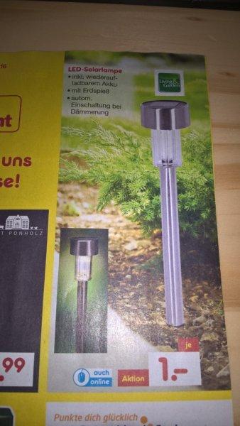 @Netto (Filiale lokal? (Frankfurt a.M.) + Online) LED Solarlampe (ab 29.02.2016)