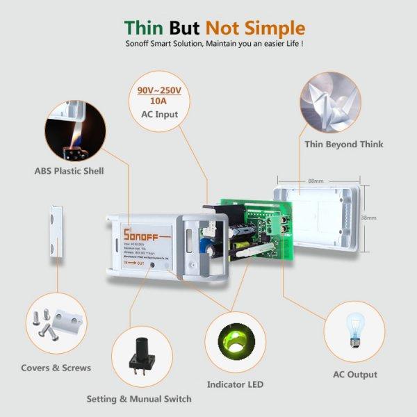 Sonoff Intelligent DIY Adapt KIT für Haushaltsgeräte Verknüpfung per Smartphone über Wifi