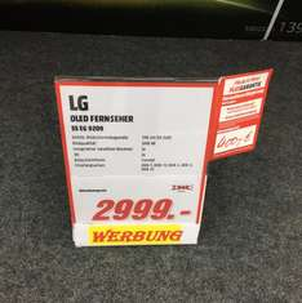 [Lokal MM Bochum] LG 55 EG 9209 55 Zoll Curved OLED TV