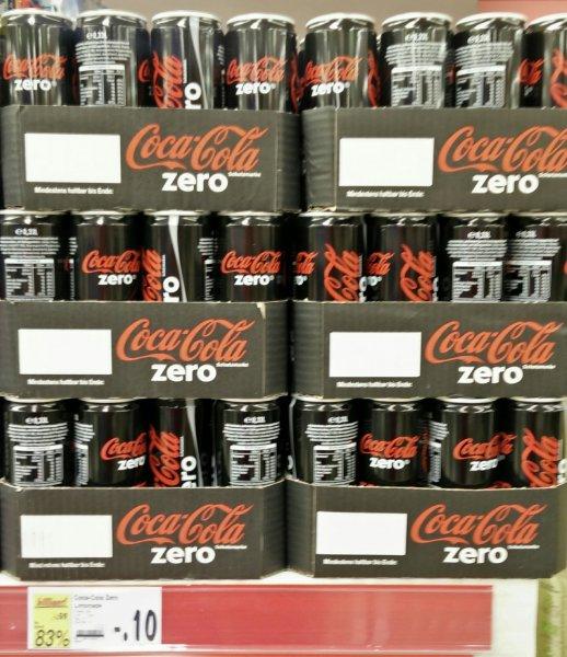 Kaufland Gladbeck Coca Cola Zero Dose 0,10 cent