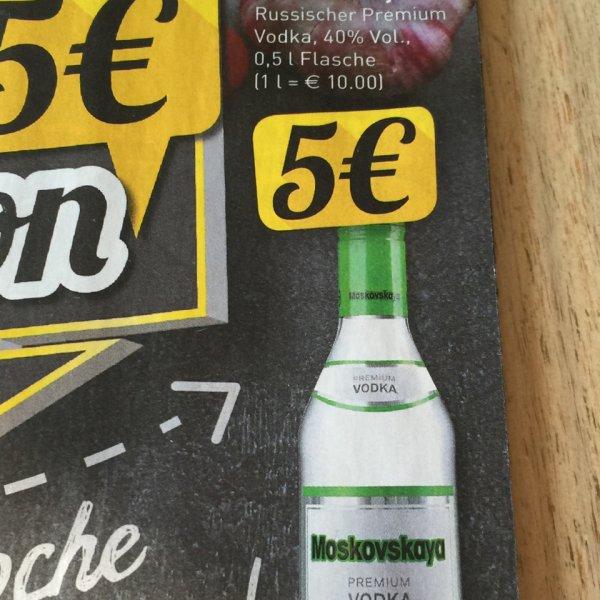Moskovskaya Vodka 0,5 l für 5 € | Marktkauf Gütersloh